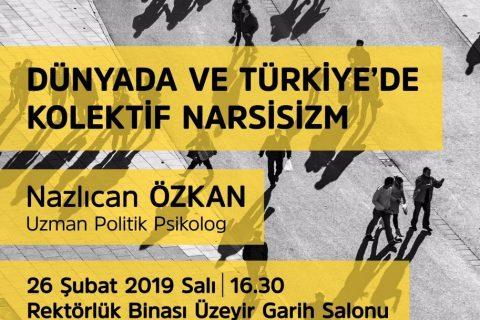 Dünyada ve Türkiye'de Kolektif Narsisizm Etkinliğinin Afişi