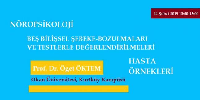 Nöropsikoloji, Beş Bilişsel Şebeke ve Bozulmaları Prof. Dr. Öget Öktem
