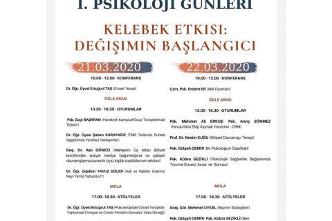psikoss psikoloji günü kelebek etkisi - Sivas Cumhuriyet Üniversitesi