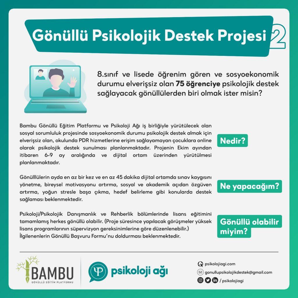 Gönüllü Psikolojik Destek Projesi